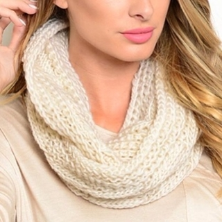 Shoptiques Product:  Cream Colored Infinity Scarf