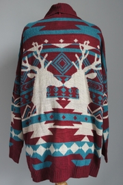 Ba Bel Aztec Deer Cardigan - Product Mini Image