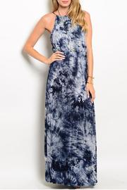 Ba Bel Navy Tie Dye Dress - Product Mini Image