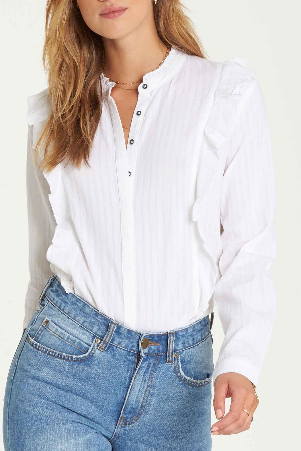 Billabong Babe Button Down - Front Cropped Image