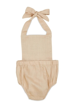 Babe Basics Beige Halter Romper - Alternate List Image