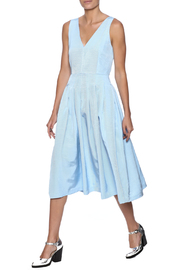 Babel Fair Chambray Pleated Dress - Product Mini Image