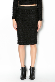 Endless Rose Fuzzy Stripe Pencil Skirt - Product Mini Image