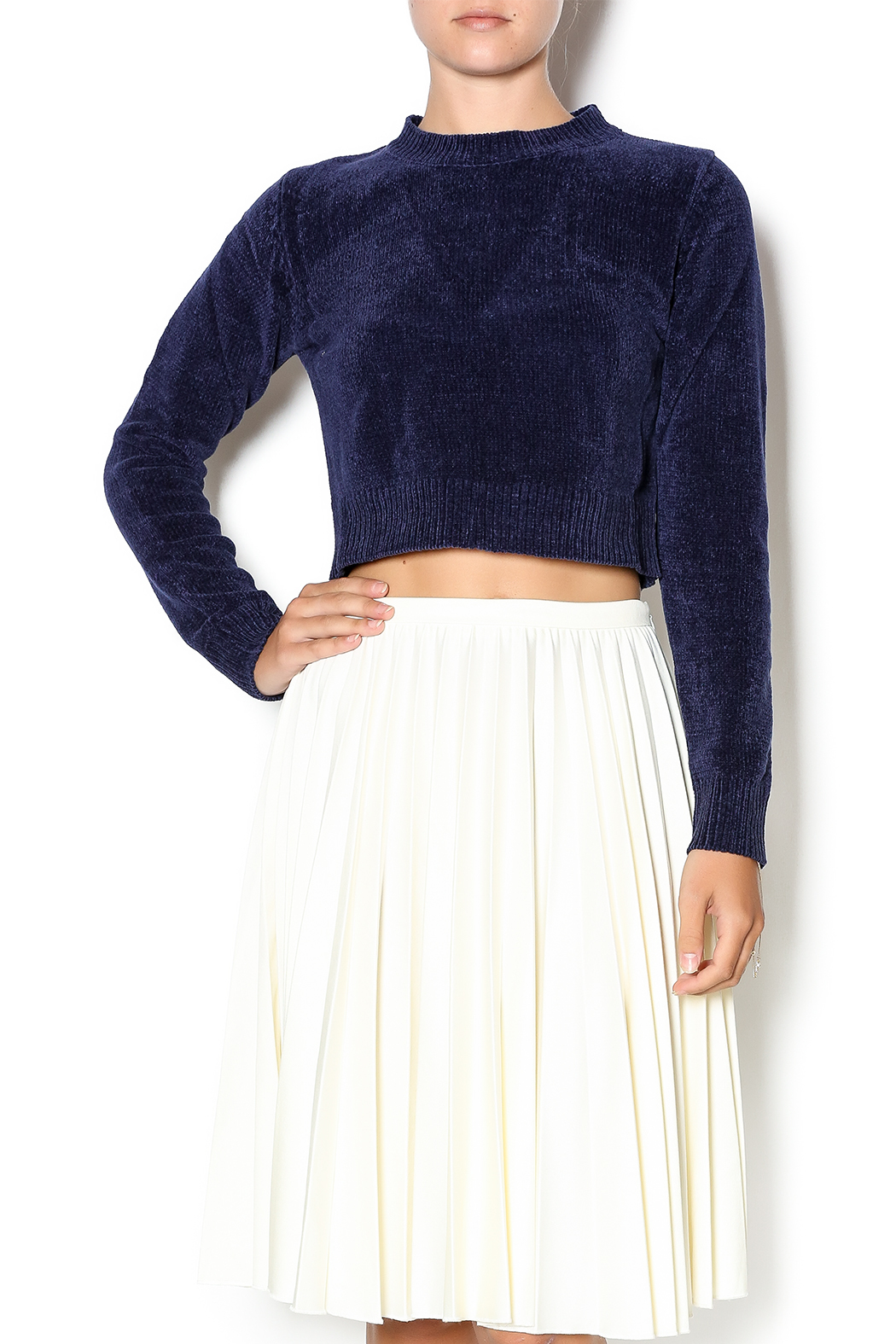 Babel Fair Navy Cropped Sweater from Williamsburg by Babel Fair ...