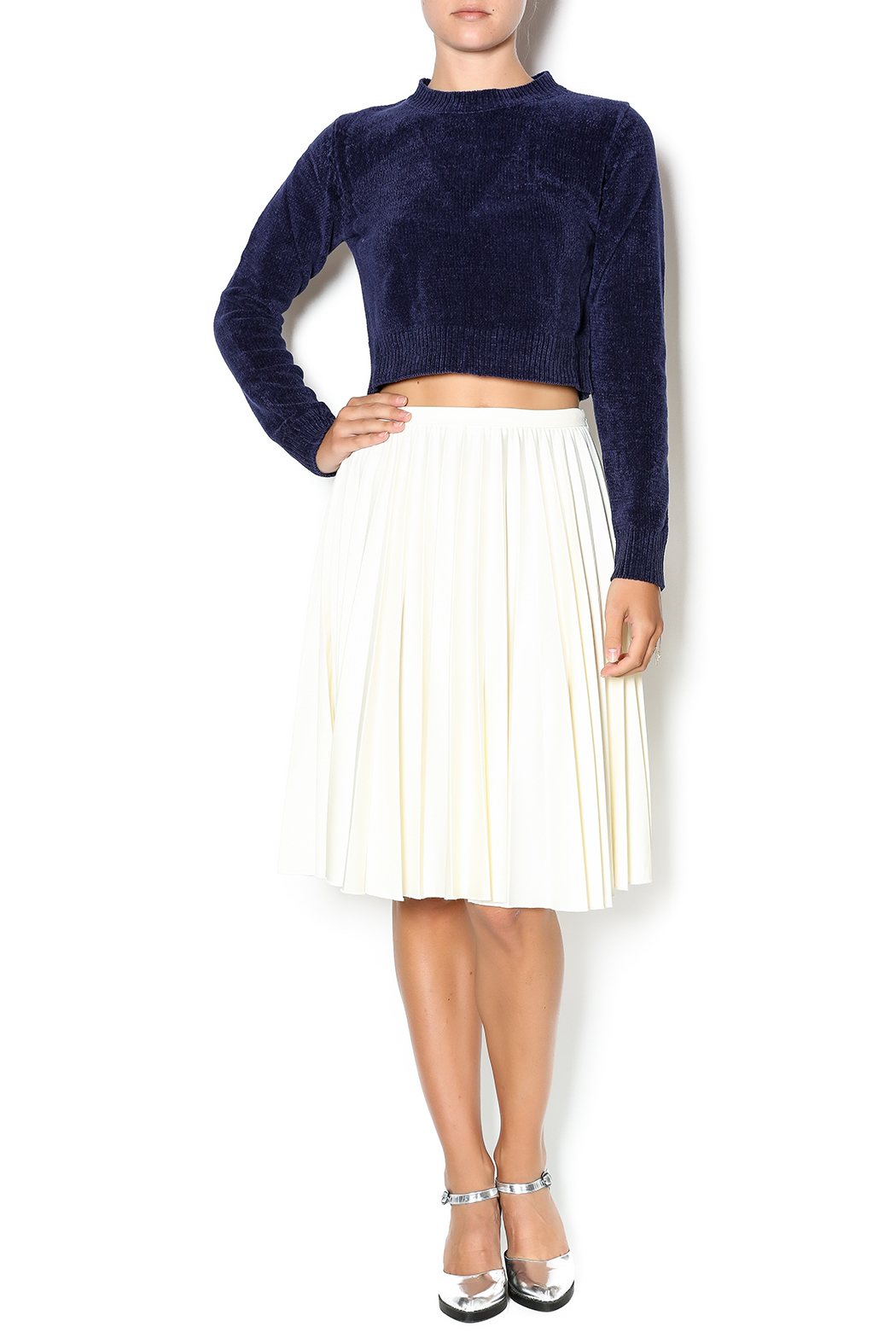 Babel Fair Navy Cropped Sweater from Nolita by Babel Fair Soho ...