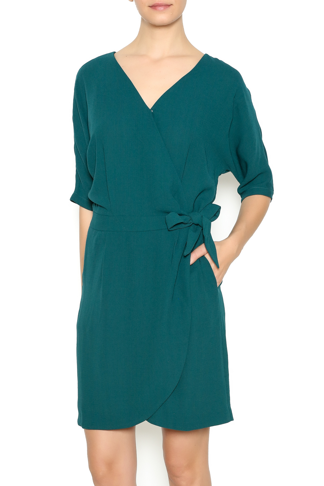 L Fair Side Tie Wrap Dress Front Cropped Image