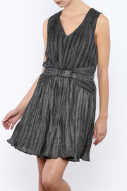Babel Fair Silver Pleated Dress - Product Mini Image