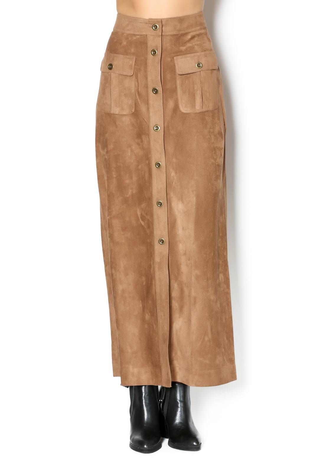 Babel Fair Suede Look Maxi Skirt from Williamsburg by Babel Fair ...
