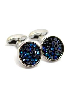 Shoptiques Product: Blue Crystal Cuffl Links