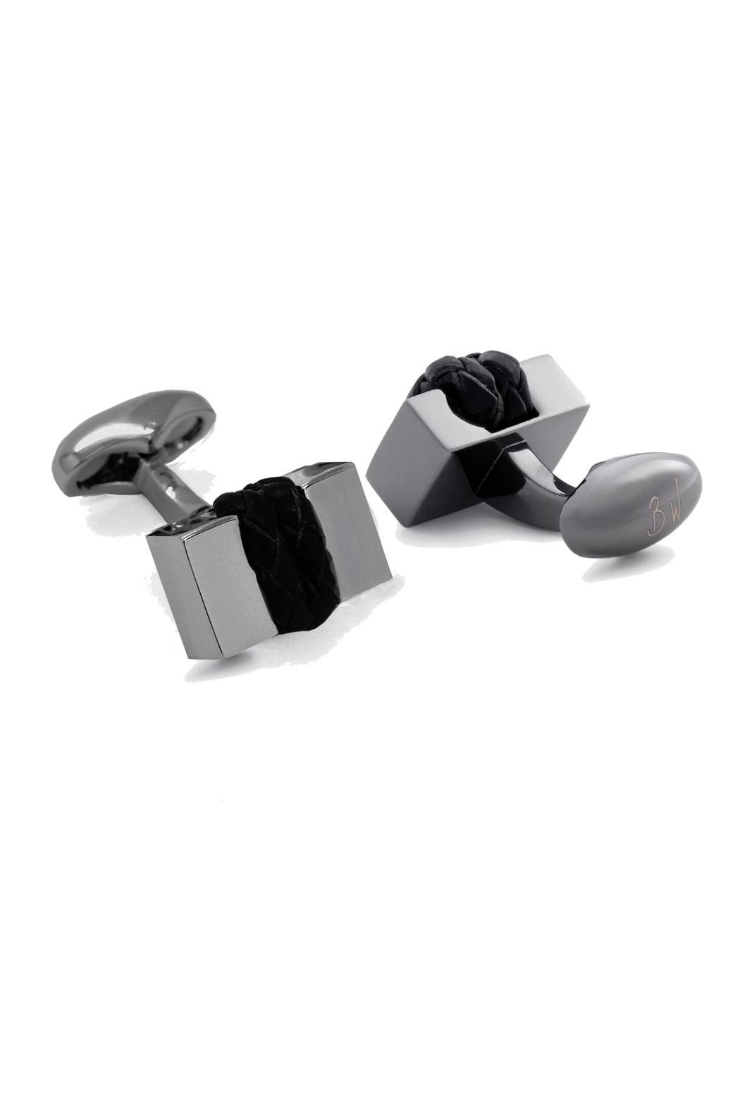 Babette Wasserman Leather Brick Cufflinks - Main Image