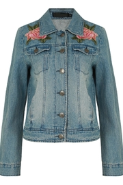 Babez London Embroidered Denim Jacket - Product Mini Image