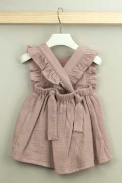 Babidu Alma Collection Cotton Dress with Ruffle For Baby Girls - Alternate List Image