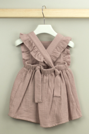 Babidu Alma Collection Cotton Dress with Ruffle For Baby Girls - Front full body