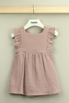 Babidu Alma Collection Cotton Dress with Ruffle For Baby Girls - Product List Image