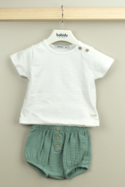 Babidu Ella Collection Cotton Ranita Set (Long Sleeve T-Shirt & Shots) - Product Mini Image