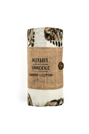 Milkbarn Baby Bamboo Swaddle Blanket - Front cropped