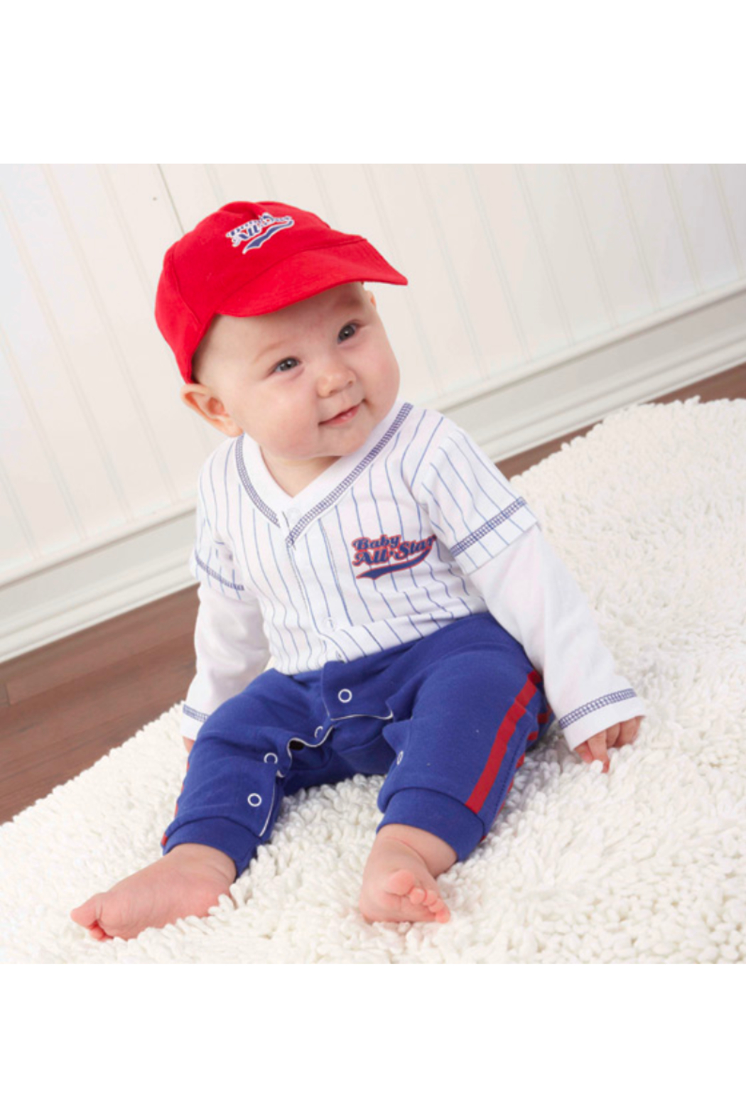Baby Aspen Baby Baseball Outfit - Front Full Image