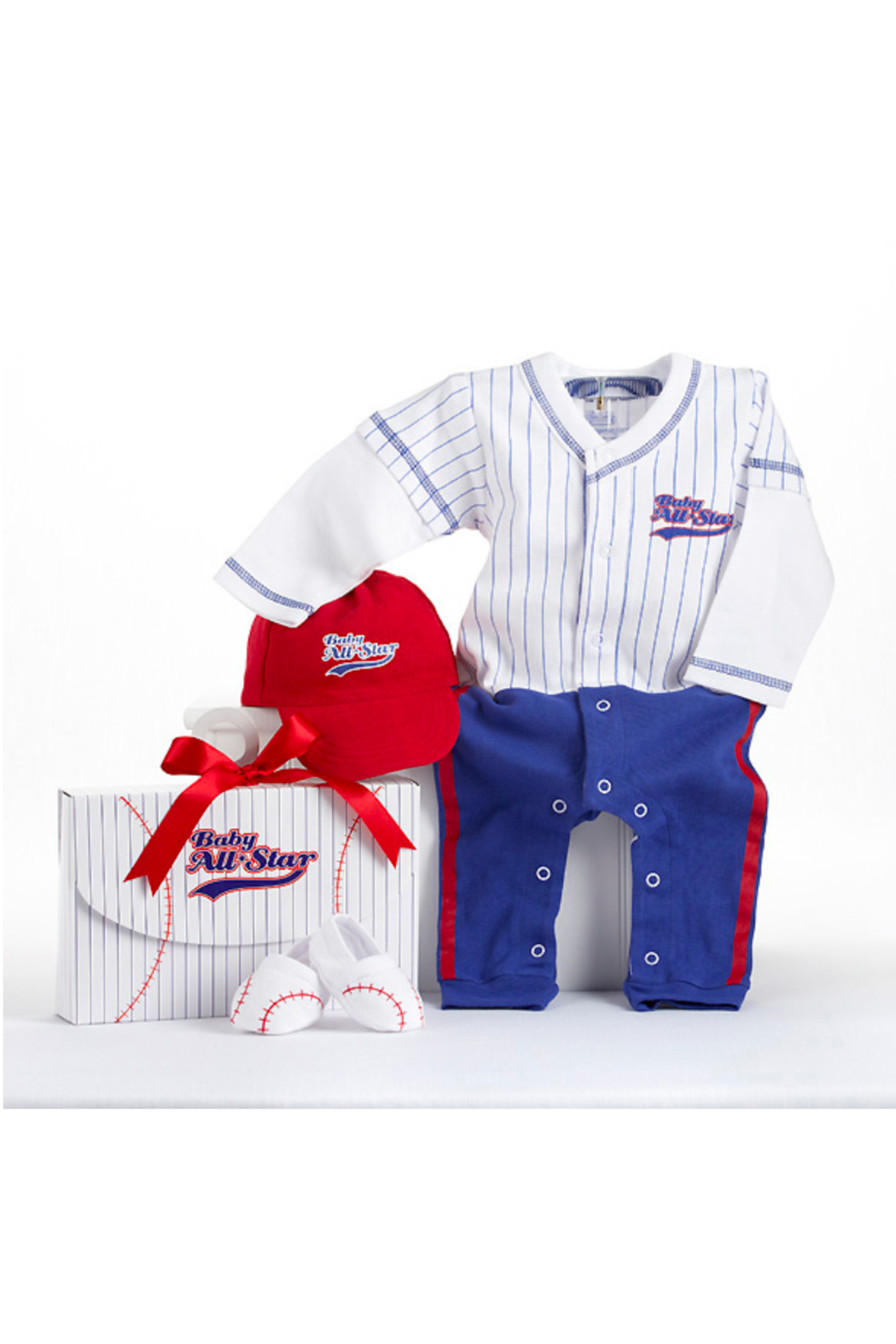 Baby Aspen Baby Baseball Outfit - Front Cropped Image