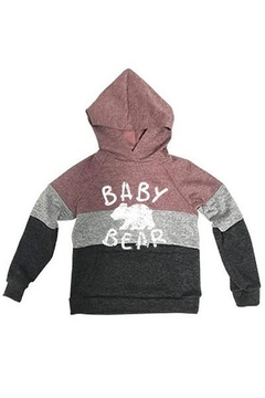 Shoptiques Product: Baby Bear Stripe Hoodie