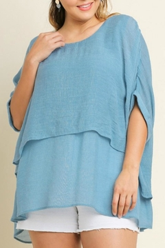 Umgee USA Baby Blue Oversized Tunic - Product List Image
