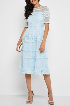 Just Me Baby-Blue Lace Midi - Product List Image