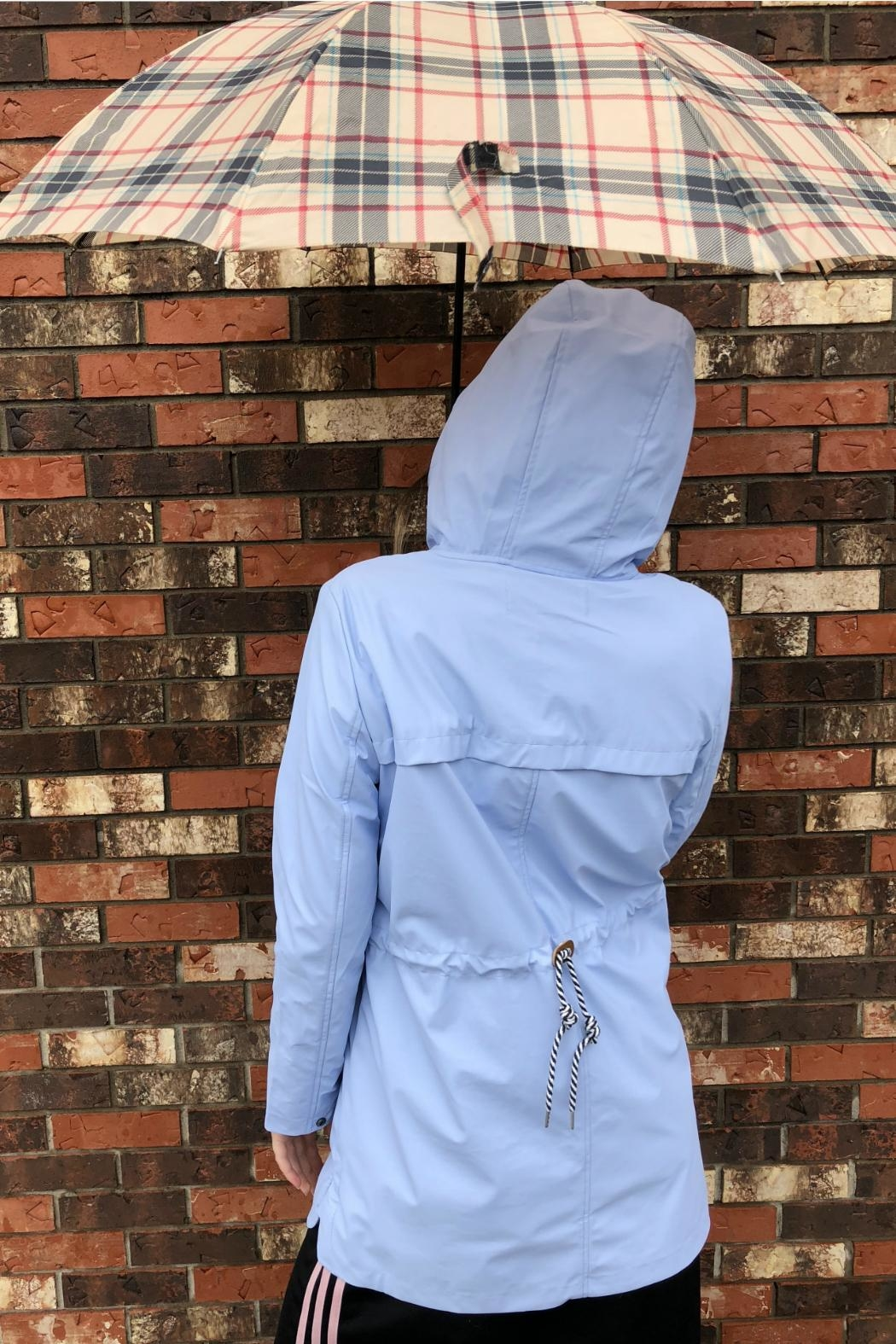 Tom Tailor Baby Blue Raincoat - Front Full Image