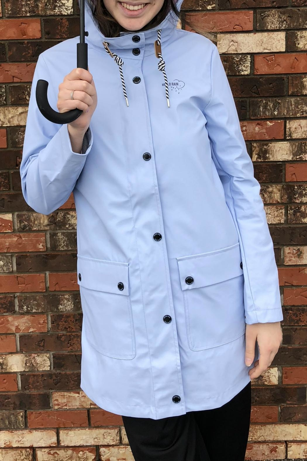 nice cheap 100% top quality no sale tax Baby Blue Raincoat