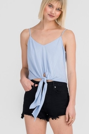 Lush Baby-Blue Tie Top - Product Mini Image