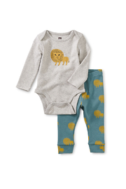 Tea Collection  Baby Bodysuit Outfit - Lions - Product Mini Image