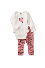 Tea Collection  Baby Bodysuit Outfit - Strawberries - Product Mini Image