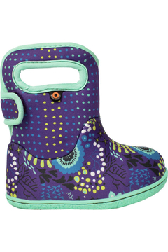 Shoptiques Product: Baby Bogs Violet Flower Waterproof Boots
