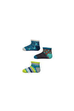 Shoptiques Product: Baby Bootie Batch Socks Trio Gift Box - Ocean Abyss