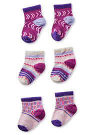 Smartwool Baby Bootie Batch Socks Trio Gift Box - Pink Nectar - Product Mini Image