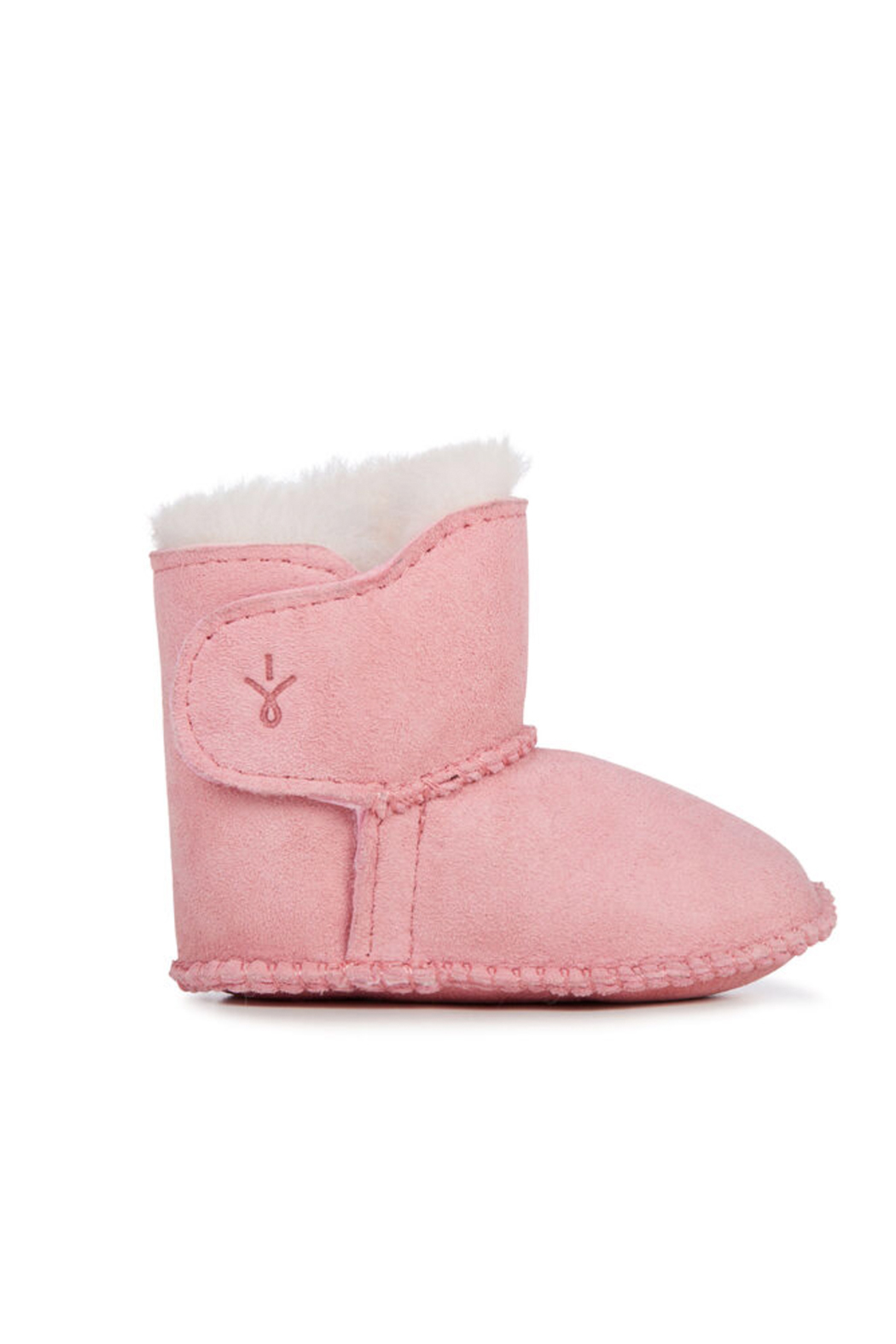 Emu Australia Baby Bootie - Baby Pink - Front Cropped Image