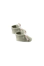 Quincy Mae Baby Booties - Sage - Product Mini Image