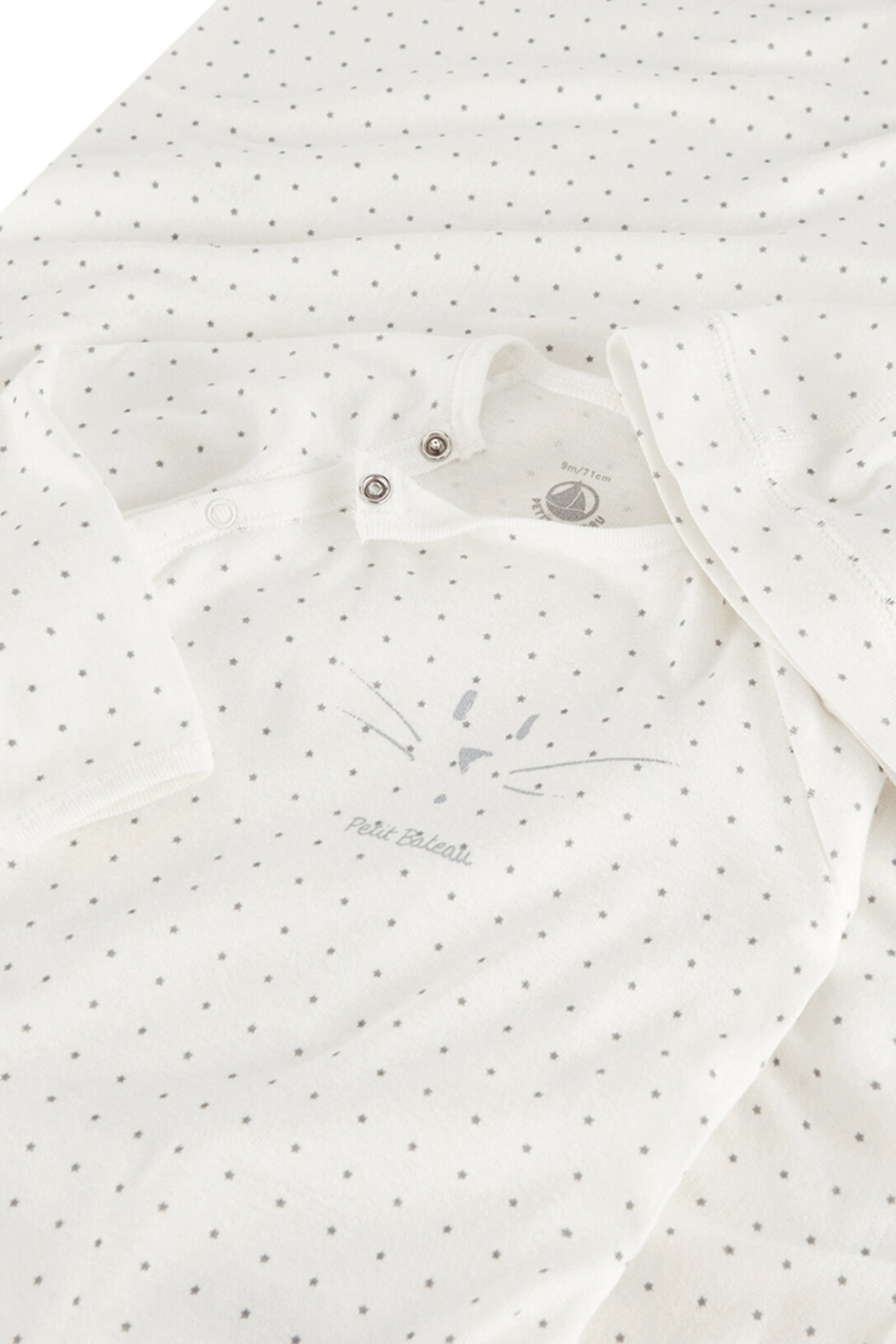 Petit Bateau  Baby Boy 3 Peice Gift Set ( Dots Footie,Blanket & Beanie)Best For Baby Shower Gifting - Side Cropped Image