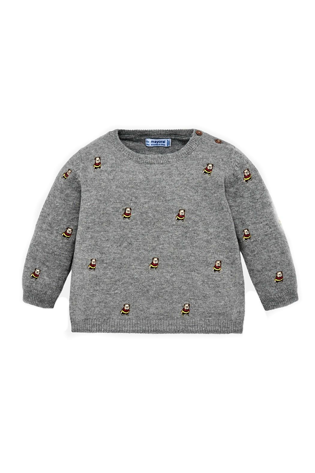 Mayoral Baby-Boy-Bulldog-Embroidered-Sweater - Main Image