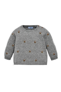 Shoptiques Product: Baby-Boy-Bulldog-Embroidered-Sweater
