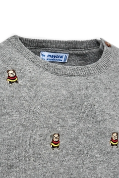Mayoral Baby-Boy-Bulldog-Embroidered-Sweater - Alternate List Image