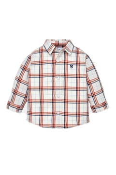 Shoptiques Product: Baby-Boy Candy-Apple-And-Navy-Stripe Shirt