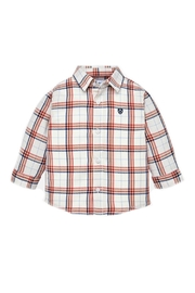 Mayoral Baby-Boy Candy-Apple-And-Navy-Stripe Shirt - Front cropped