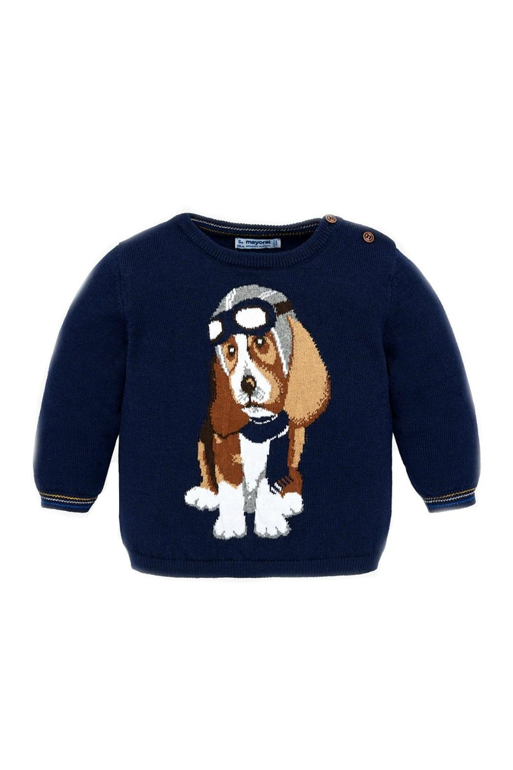 Mayoral Baby-Boy-Fighter-Pilot-Dog-Sweater - Main Image