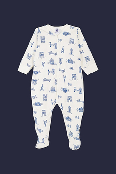 Shoptiques Product: BABY BOY FRONT SNAP PARISIEN PRINT FOOTIE