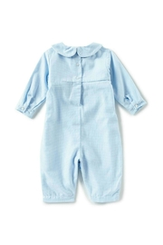 Petit Ami Baby-Boy Smocked-Gingham Longall - Front full body