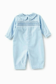 Petit Ami Baby-Boy Smocked-Gingham Longall - Front cropped
