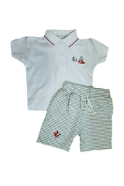 Kissy Kissy Baby-Boy Sparky-The-Firefighter Bermuda-Short-Set - Front cropped