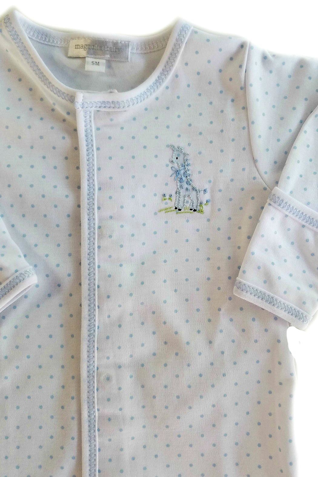 Magnolia Baby Baby-Boy Vintage-Giraffe Convertible-Gown - Front Full Image