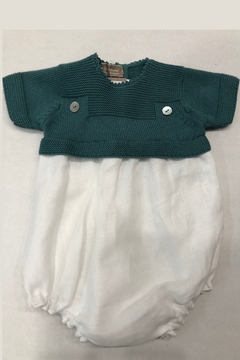 Shoptiques Product: BABY BUBBLE WITH KNIT TOP AND LINEN BOTTOM