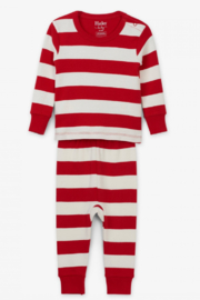 Hatley Baby Candy Cane Stripped Pajamas - Front cropped