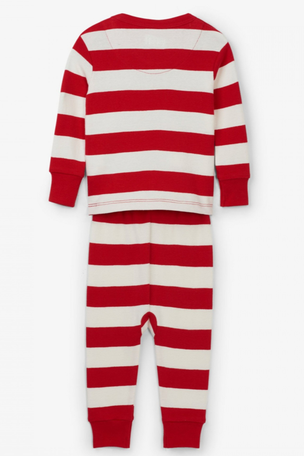 Hatley Baby Candy Cane Stripped Pajamas - Front Full Image